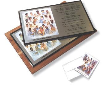 One Earth One Family Plaques & Gift Cards